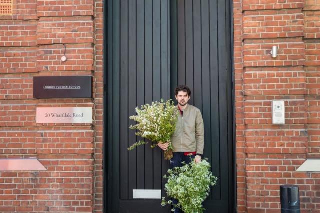 London flower school floristry school front doors